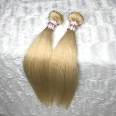 Platinum Blonde STRAIGHT Hair Bundles 2pcs