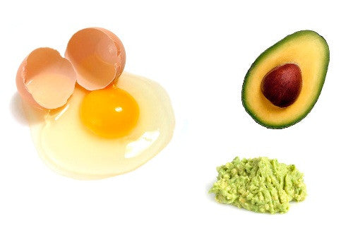 Avocado and egg white oil control face mask