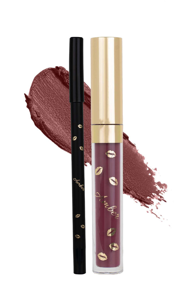 SEDUCTIVE - LIP KIT | MATTE LIPSTICK & LIP LINER | EASY TO APPLY |  SMOOTH & SILKY FEEL| - Amber Dazzle