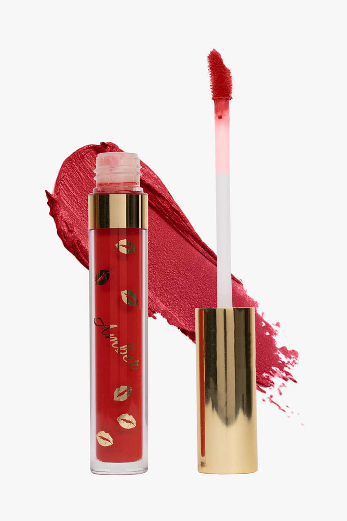SERAFINE (Scarlet) | LIQUID MATTE LIPSTICK | STAYS ALL DAY| SMUDGE PROOF| WATERPROOF| VEGAN & CRUELTY FREE| - Amber Dazzle