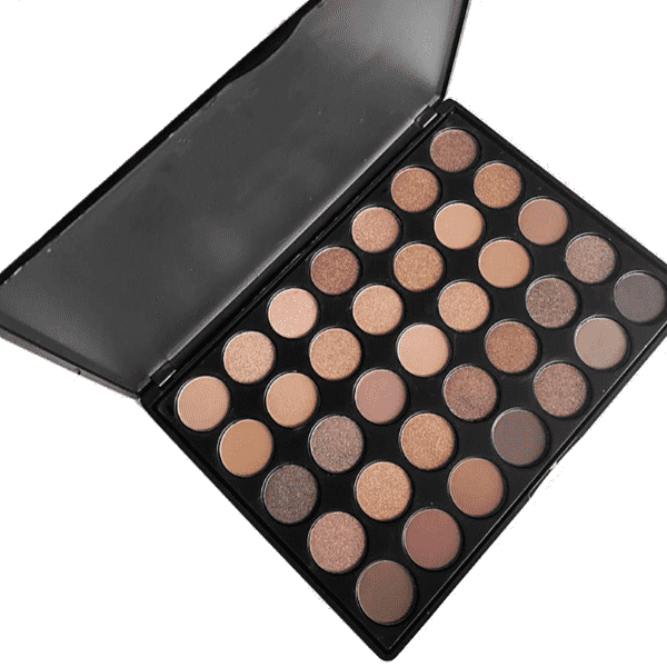 DAZZLE DIVA EYESHADOW PALETTE | 35 NEUTRAL SHADES EYESHADOW | INCLUDES NUDE AND SHIMMERY NUDE COLORS | - Amber Dazzle