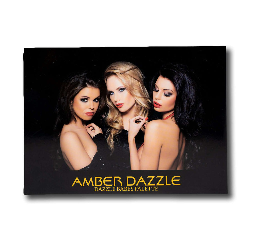 DAZZLE BABES EYESHADOW PALETTE | COMES WITH 35 UNIQUE SHADES |  GIVES NUDE TO GLAMOROUS LOOK | - Amber Dazzle