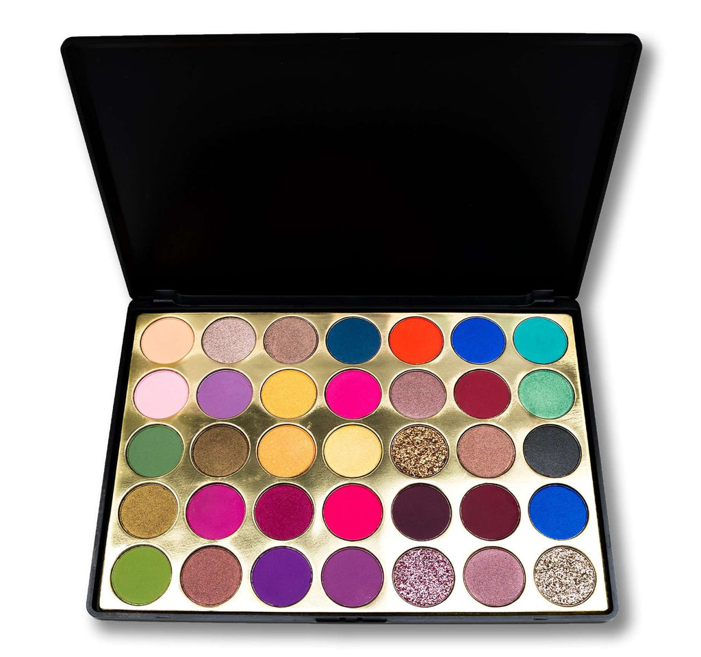 DAZZLE BABES EYESHADOW PALETTE | COMES WITH 35 UNIQUE SHADES |  GIVES NUDE TO GLAMOROUS LOOK |