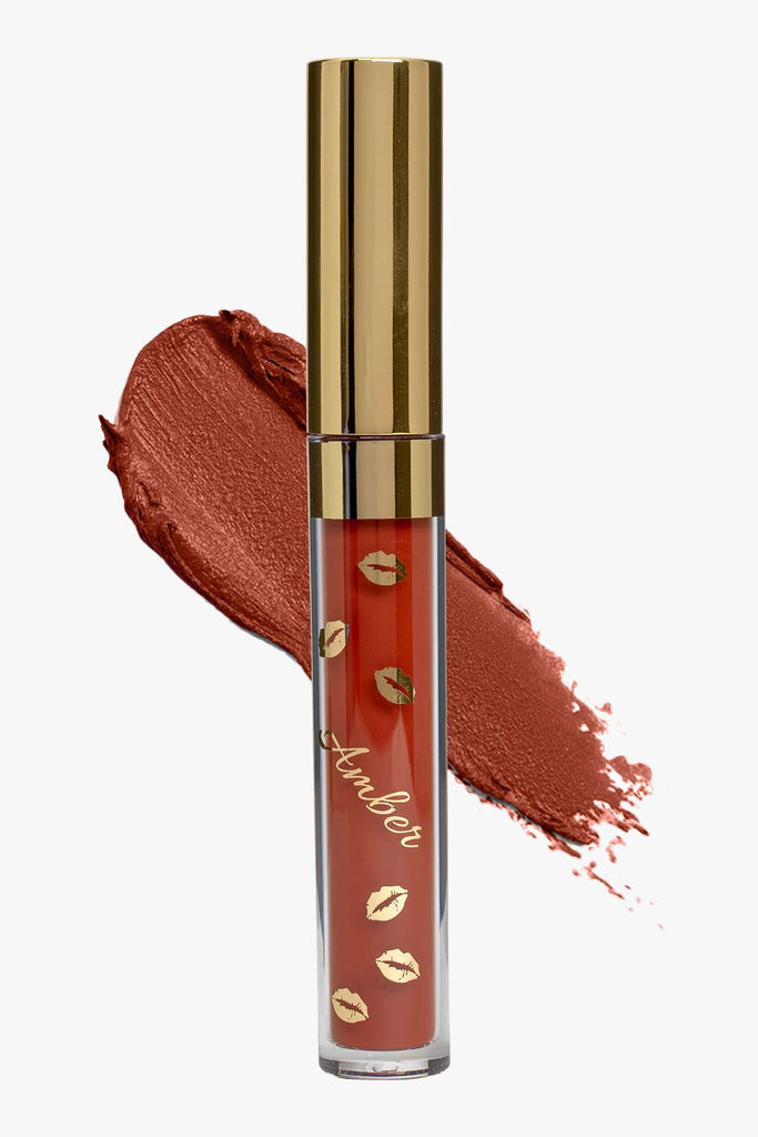COCO (Brown) LIQUID MATTE LIPSTICK | STAYS ALL DAY| SMUDGE PROOF| WATERPROOF| VEGAN & CRUELTY FREE| - Amber Dazzle
