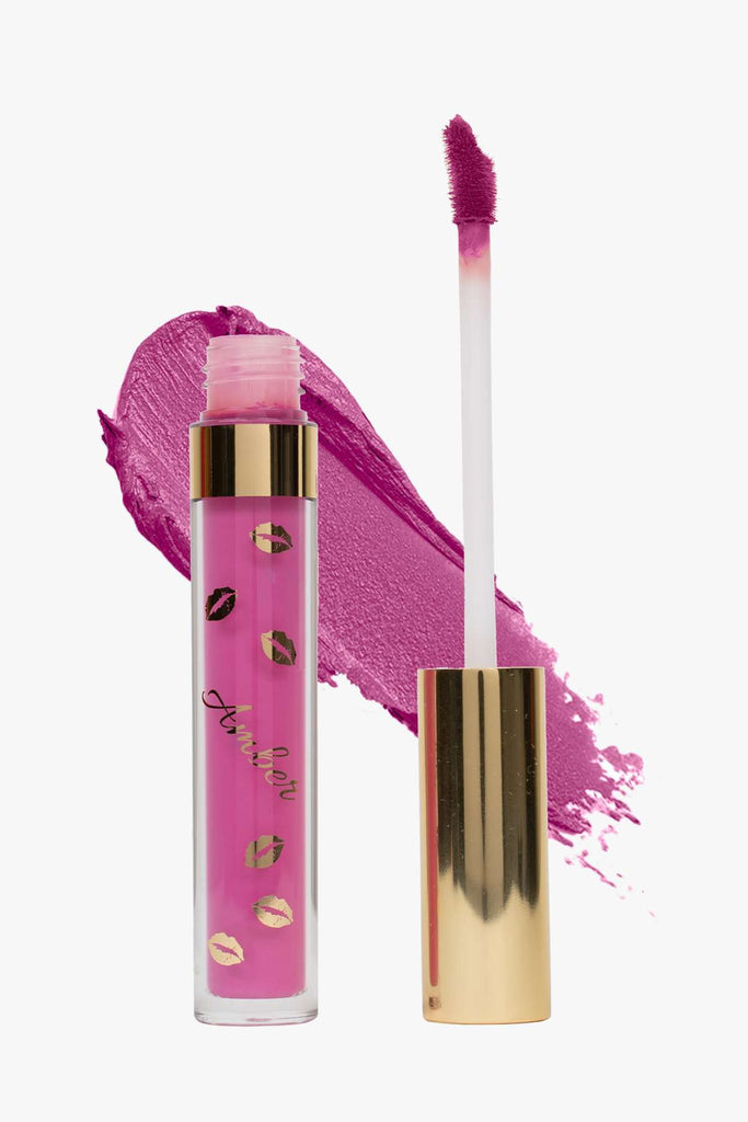 LOVE (Pink) LIQUID MATTE LIPSTICK | STAYS ALL DAY| SMUDGE PROOF| WATERPROOF| VEGAN & CRUELTY FREE| - Amber Dazzle