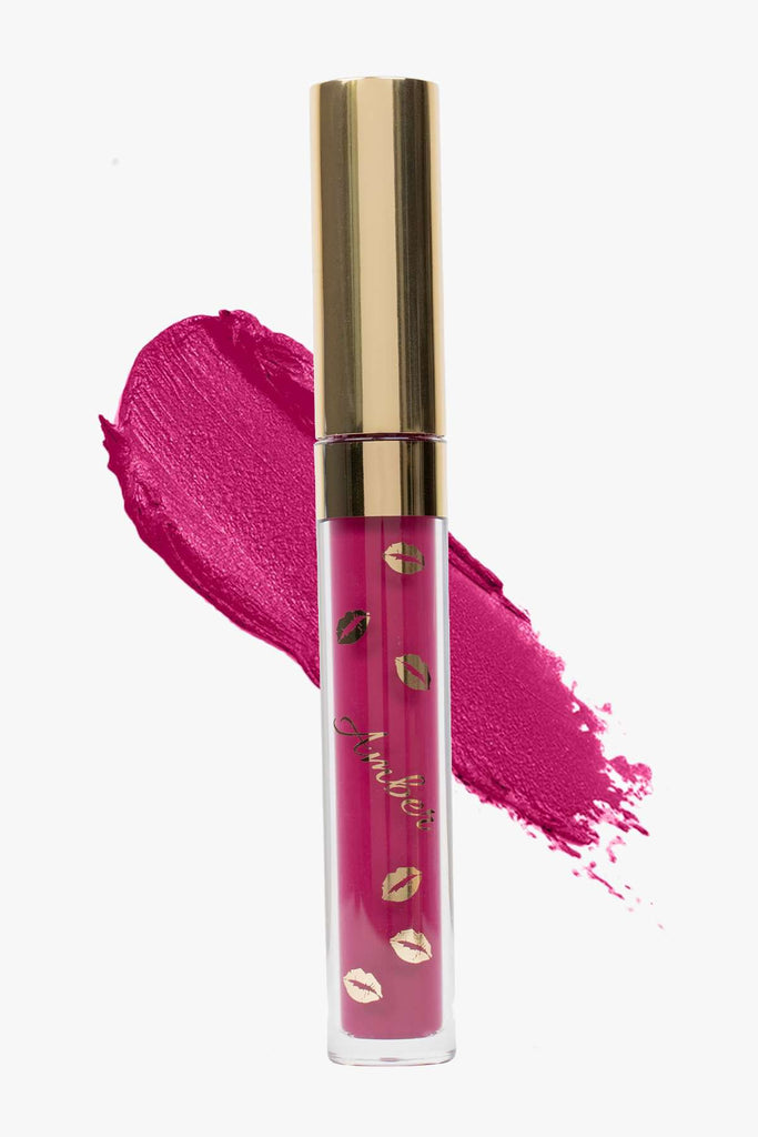 SHOWGIRL (Purple) LIQUID MATTE LIPSTICK | STAYS ALL DAY| SMUDGE PROOF| WATERPROOF| VEGAN & CRUELTY FREE| - Amber Dazzle