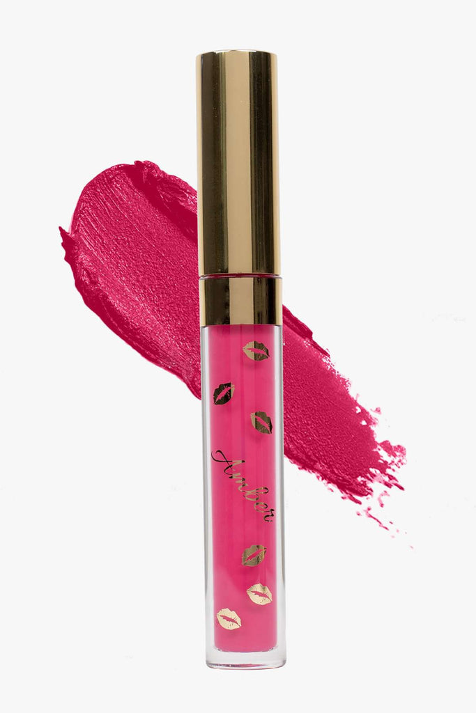 POWERPUFF (Pink) LIQUID MATTE LIPSTICK | STAYS ALL DAY| SMUDGE PROOF| WATERPROOF| VEGAN & CRUELTY FREE| - Amber Dazzle