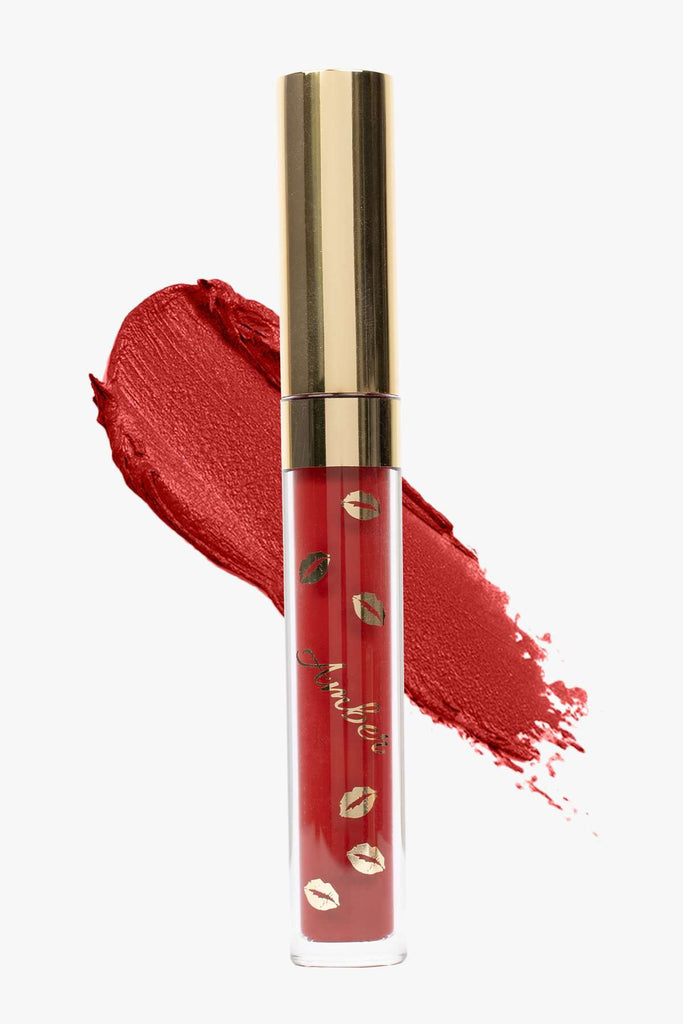 FAMOUS (Red) | LIQUID MATTE LIPSTICK | STAYS ALL DAY| SMUDGE PROOF| WATERPROOF| VEGAN & CRUELTY FREE| - Amber Dazzle
