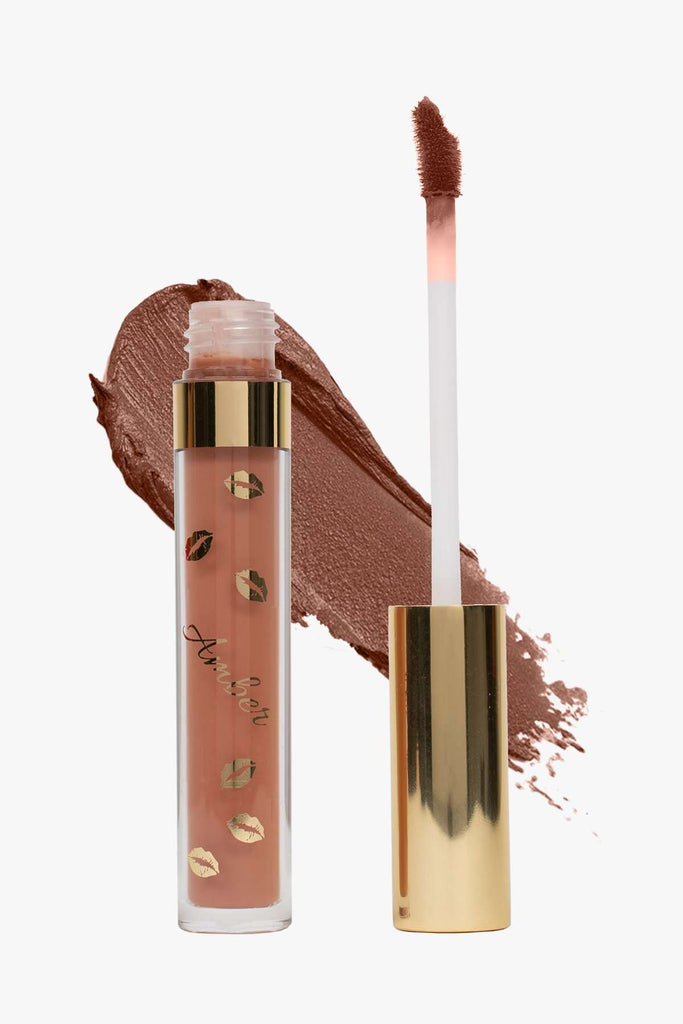 FLIRT (Nude) LIQUID MATTE LIPSTICK | STAYS ALL DAY| SMUDGE PROOF| WATERPROOF| VEGAN & CRUELTY FREE| - Amber Dazzle