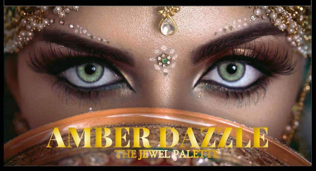 THE JEWEL EYESHADOW PALETTE | COMES WITH 18 COLORS | GIVES ALL TYPES OF GLAMOROUS LOOK | BLENDS PERFECTLY WITH THE EYES | - Amber Dazzle