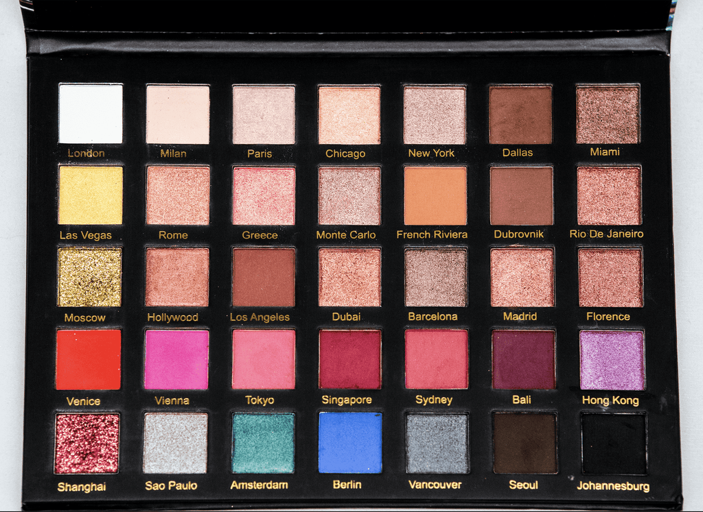 AMBER DAZZLE FASHION RUNWAY EYESHADOW PALETTE | 35 COLORS EYESHADOW PALETTE| - Amber Dazzle