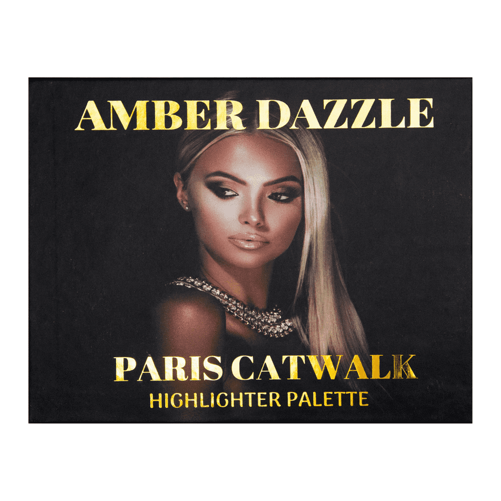 Paris Catwalk - Six Colors Highlighter Palette | Very gentle on skin | Gives the glamorous look you want | - Amber Dazzle