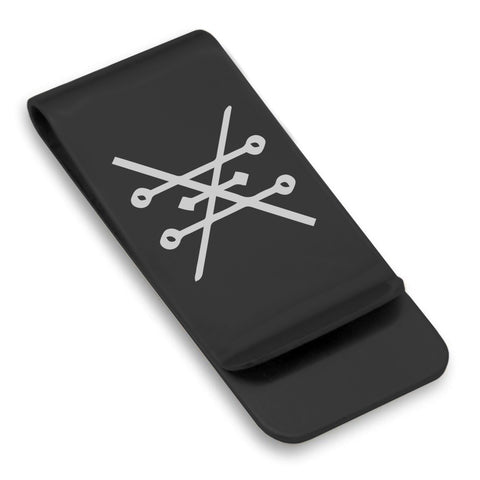 Stainless Steel Copper Alchemical Symbol Classic Slim Money Clip