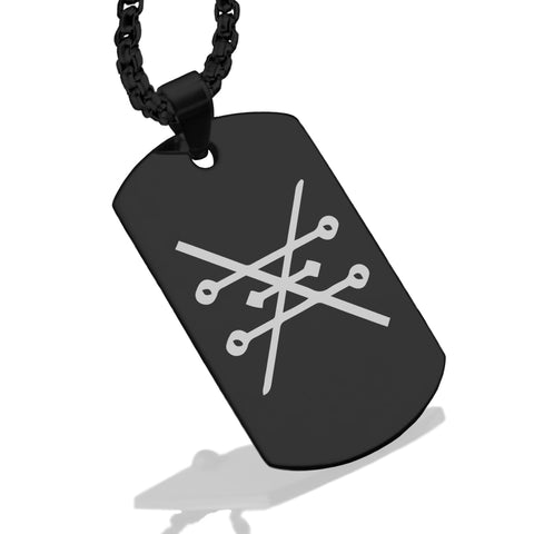 Stainless Steel Copper Alchemical Symbol Dog Tag Pendant - Comfort Zone Studios