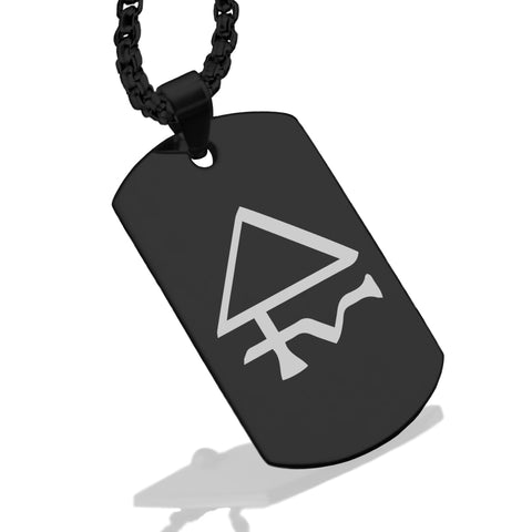 Stainless Steel Sulfur Alchemical Symbol Dog Tag Pendant - Comfort Zone Studios