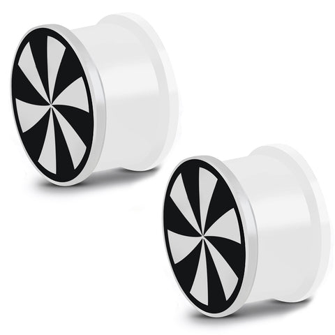 Glow in the Dark Soft Silicone Windmill Swirl Saddle Ear Plugs, Pair - Comfort Zone Studios