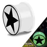 Glow in the Dark Soft Silicone Full All Star Saddle Ear Plugs, Pair - Comfort Zone Studios