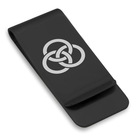 Stainless Steel Religious Trinity Borromean Rings Classic Slim Money Clip