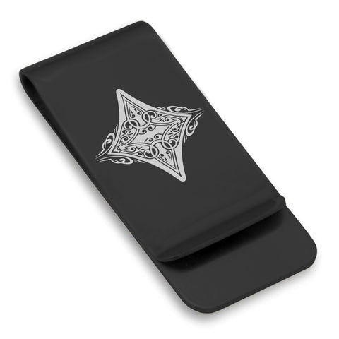 Stainless Steel Vintage Diamond Suit Classic Slim Money Clip