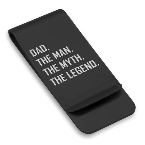 Stainless Steel Dad the Man Myth Legend Classic Slim Money Clip