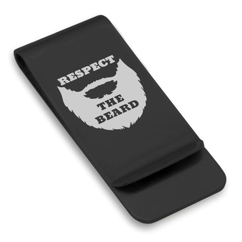 Stainless Steel Respect the Beard Classic Slim Money Clip