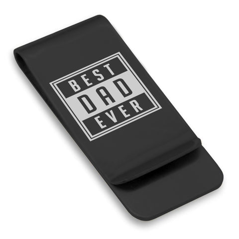 Stainless Steel Best Dad Ever Classic Slim Money Clip