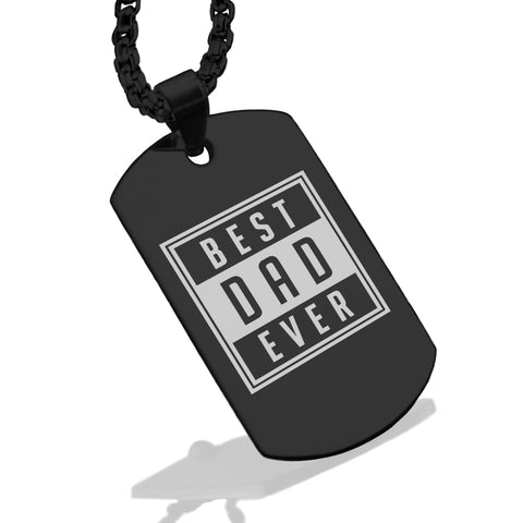 Stainless Steel Best Dad Ever Dog Tag Pendant - Comfort Zone Studios