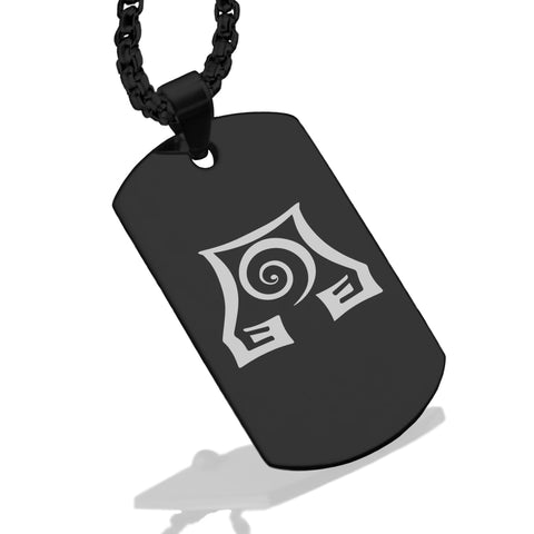 Stainless Steel Earth Element Dog Tag Pendant - Comfort Zone Studios
