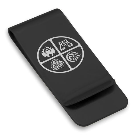 Stainless Steel Four Elements Classic Slim Money Clip