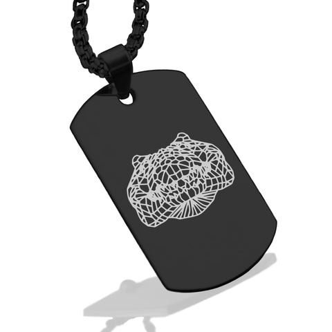 Stainless Steel Geometric Polygon Crocodile Dog Tag Pendant - Comfort Zone Studios