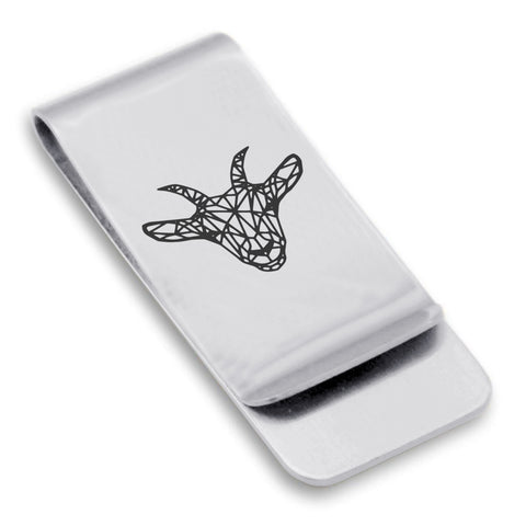 Stainless Steel Geometric Polygon Goat Classic Slim Money Clip