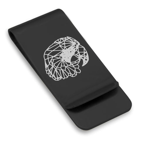 Stainless Steel Geometric Polygon Parrot Classic Slim Money Clip