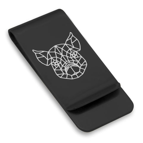 Stainless Steel Geometric Polygon Pig Classic Slim Money Clip