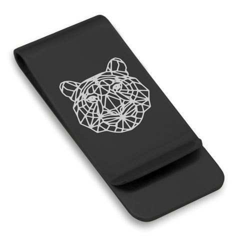Stainless Steel Geometric Polygon Tiger Classic Slim Money Clip
