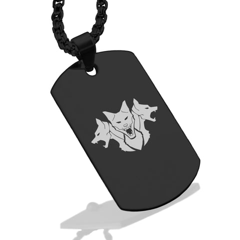 Stainless Steel Mythical Cerberus Head Dog Tag Pendant - Comfort Zone Studios