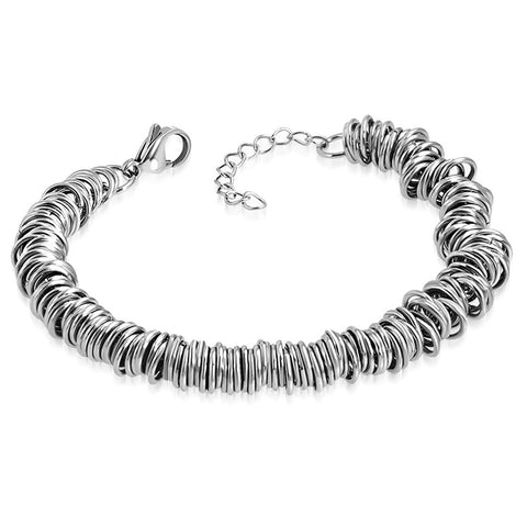 Stainless Steel Celtic Twisted Round Circle Wire Chain Link Bracelet - Comfort Zone Studios