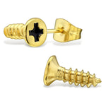 Stainless Steel Screw Stud Post Earrings - Comfort Zone Studios