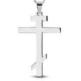Stainless Steel Orthodox Religious Cross Pendant Necklace - Comfort Zone Studios