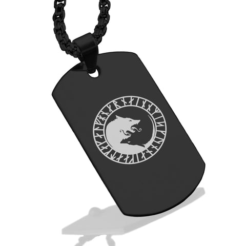 Stainless Steel Viking Ulfhednar Wolves Dog Tag Pendant - Comfort Zone Studios