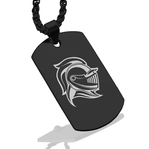 Stainless Steel Knight Warrior Champion Dog Tag Pendant - Comfort Zone Studios