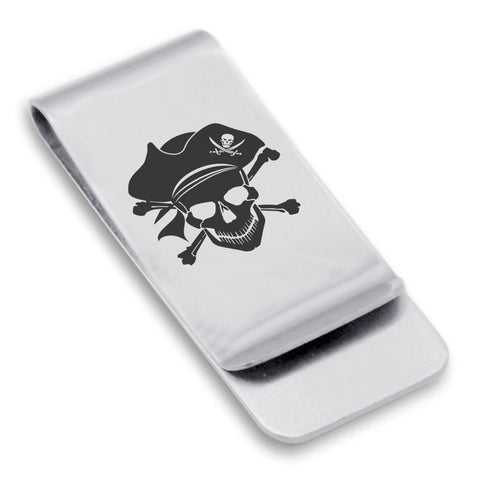 Stainless Steel Pirate Warrior Champion Classic Slim Money Clip