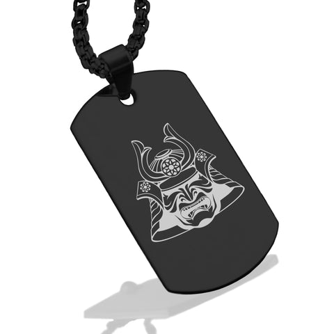 Stainless Steel Samurai Warrior Champion Dog Tag Pendant - Comfort Zone Studios