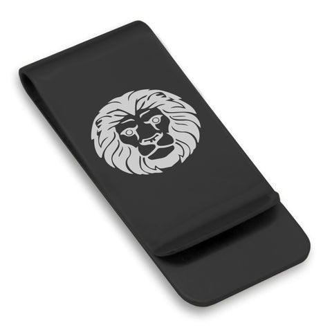 Stainless Steel Leo Zodiac (Lion) Classic Slim Money Clip