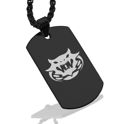 Stainless Steel Year of the Snake Zodiac Dog Tag Pendant - Comfort Zone Studios