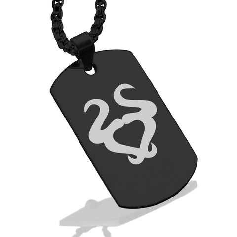 Stainless Steel Astrology Taurus (Bull) Sign Dog Tag Pendant - Comfort Zone Studios