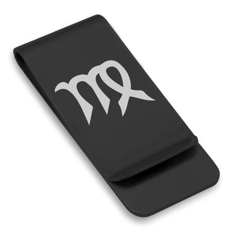 Stainless Steel Astrology Virgo (Maiden) Sign Classic Slim Money Clip