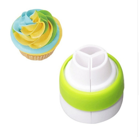 Russian 3 Color Cake Decorating Nozzle Converter Tool for Icing and Piping Cream