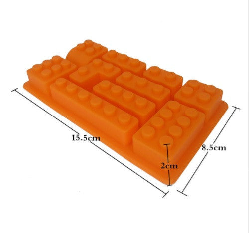 Silicone Rectangular Lego Building Mold For Cake ,Candy, Chocolate or ice cubes. Offer