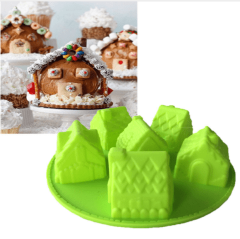 House mold to use for Christmas Cake! Silicone fondant/chocolate