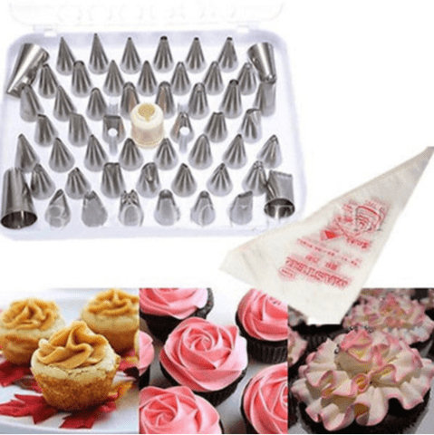 52 pcs stainless steel  piping nozzle tips set for Cake decorating.